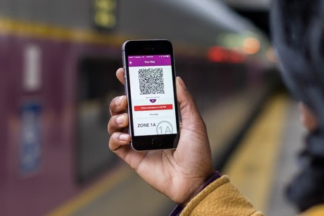 mTicket app with an activated ticket