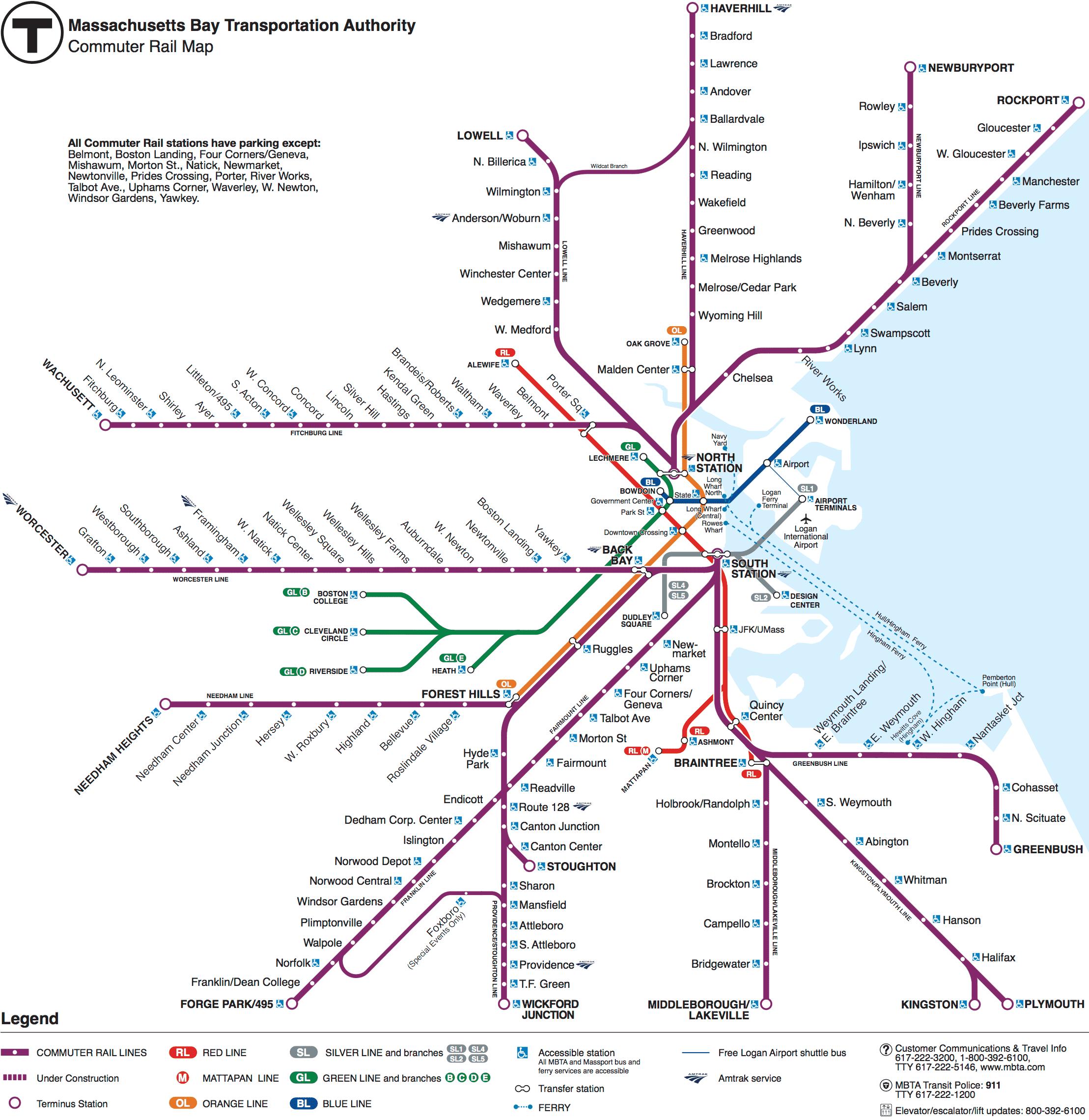 Commuter Rail Map