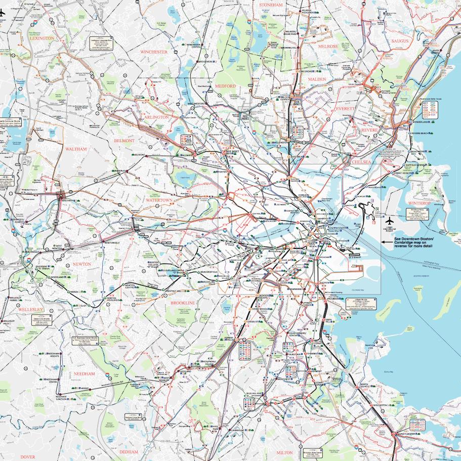 Bus schedules maps mbta bus map sciox Gallery