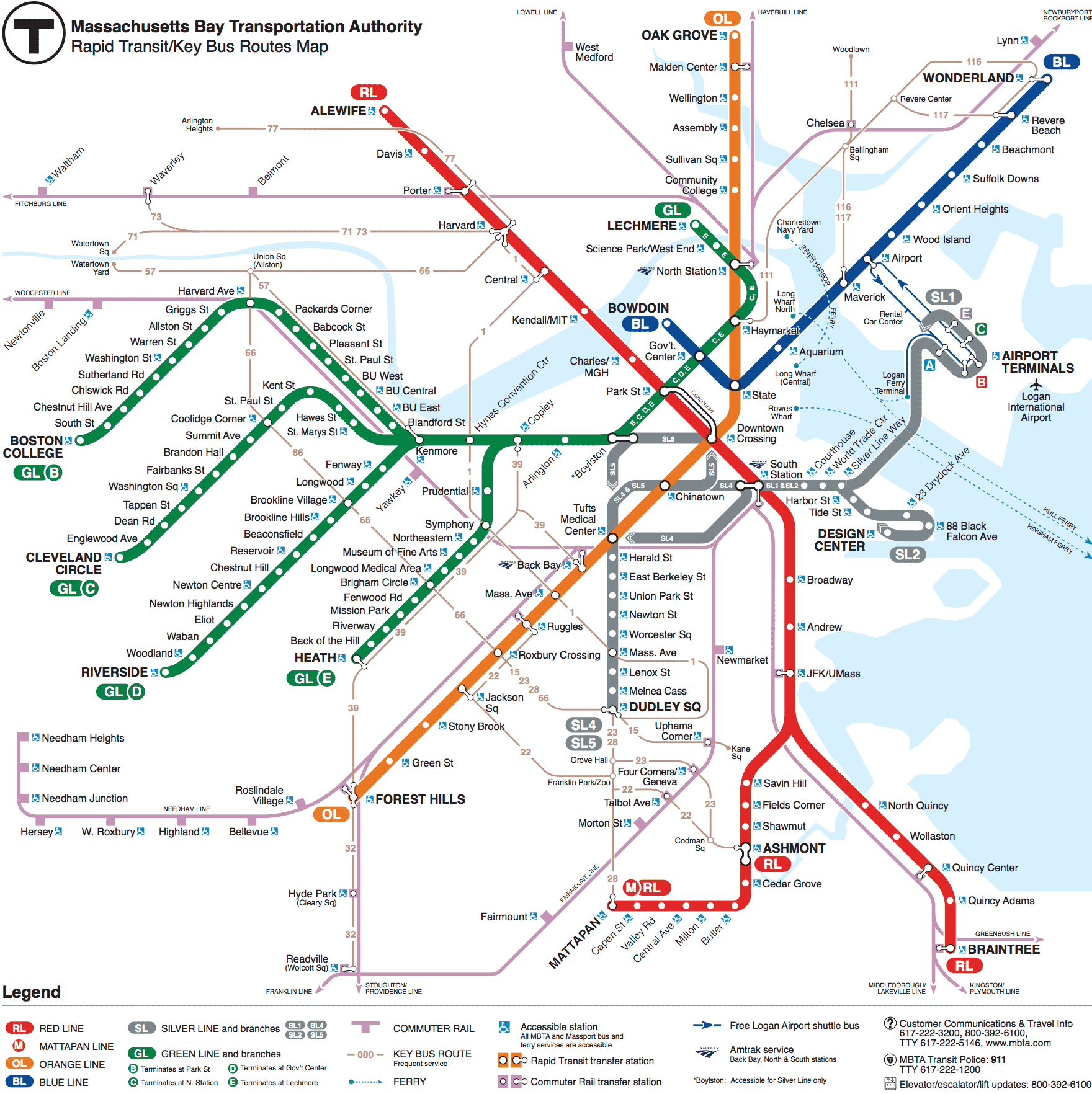 Subway schedules maps mbta massachusetts bay subway map ccuart Choice Image