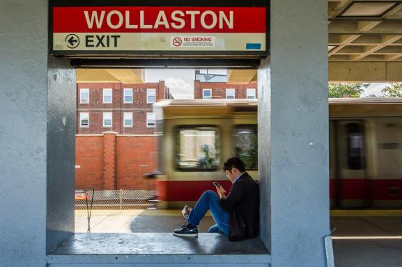 Wollaston Station Platform