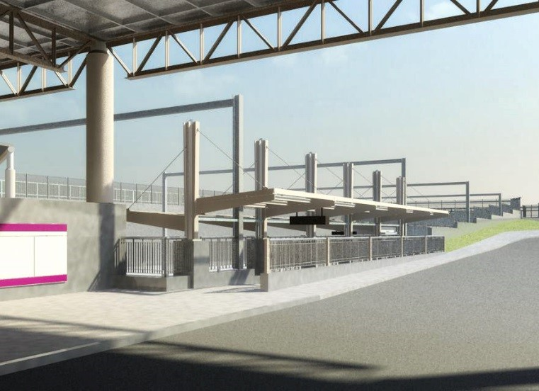 Rendering of new west platform entrance