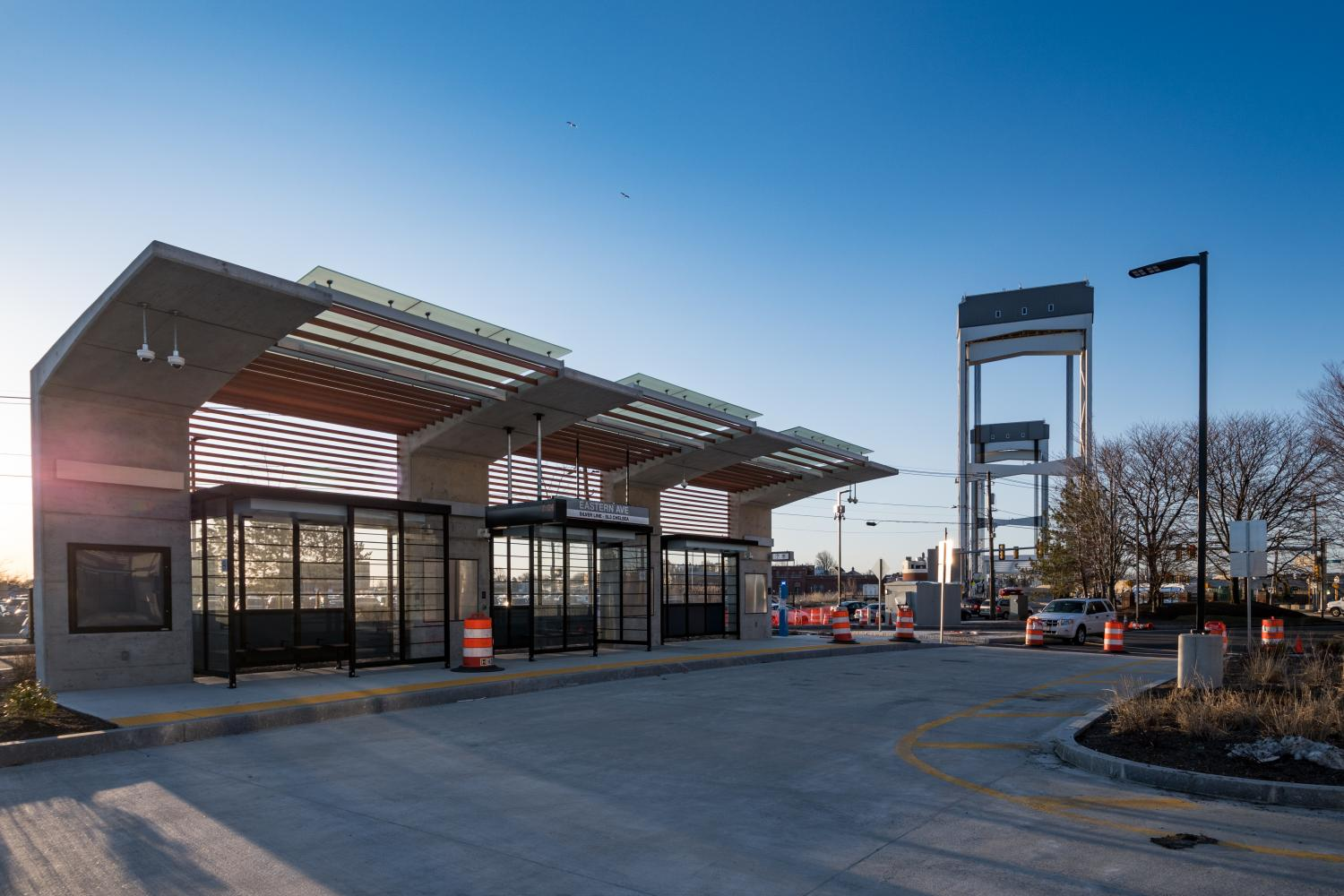 New SL3 station at Eastern Ave in Chelsea, MA