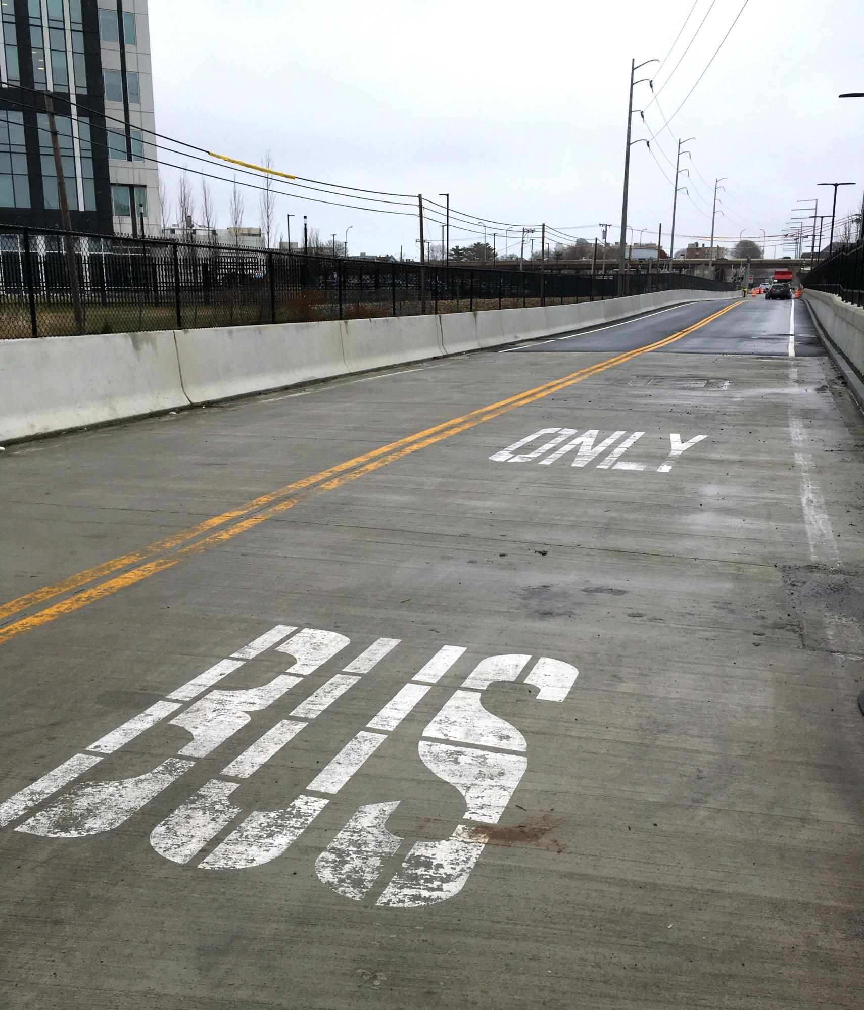 Bus-only lanes