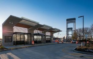The newly built Eastern Ave station.
